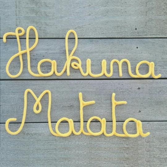 Mot déco mural Hakuna Matata